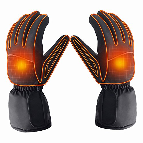 Azornic Battery Powered Rechargeable Heated Gloves for Men/Women,...