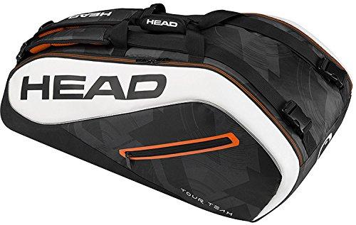 HEAD Tour Team 9R Supercombi Tennis Bag, Black/White