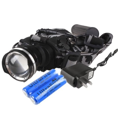 Enjoydeal CREE XM-L XML T6 LED 1800Lm Rechargeable Zoomable Headlamp Headlight + 2×18650 S