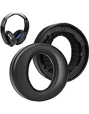 SOULWIT Hoofdtelefoon Oorkussens Kussens Vervanging, Oordopjes Compatibel met Sony Platinum Wireless Playstation PS4 Headset, 2018 Versie, Model CECHYA-0090 (zwart)