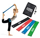 Cheap NoYo Sport Resistance Loop Bands Set of 4 – Best Home Gym Fitness Exercise Bands for Legs, Glutes, Crossfit Workout, Physical Therapy Pilates Yoga & Rehab – Improve Mobility & Strength Training