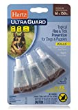 HARTZ UltraGuard Flea & Tick Drops for Dogs & Puppies 61-150lbs - 3 Monthly Treatment