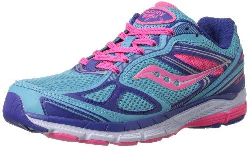 Saucony Girls Guide 7 Running Shoe (Little Kid/Big Kid),Blue/Pink/Purple,6.5 M US Big Kid