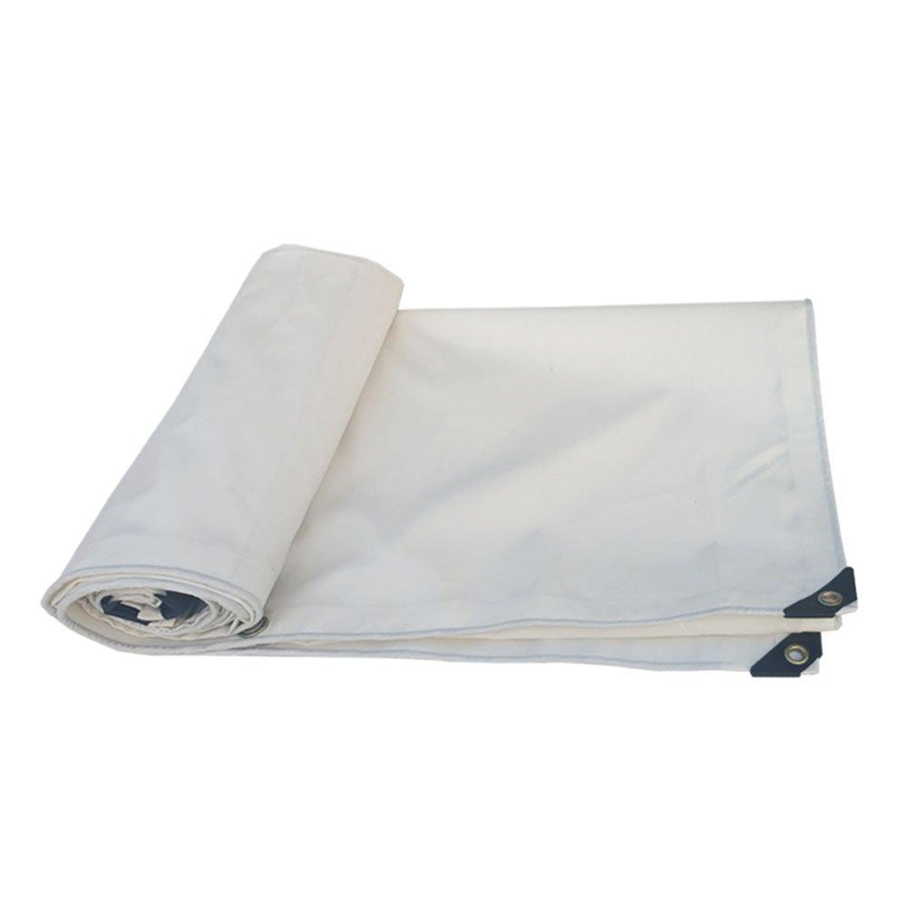 CHAOXIANG オーニング 厚い 両面 防水 耐寒性 シェード アンチサン 耐摩耗性 防湿性 防塵の 軽量 PVC 白、 500g/m 2、 厚さ 0.4mm、 15サイズ (色 : 白, サイズ さいず : 4×10m) B07DC512GC 4×10m|白 白 4×10m