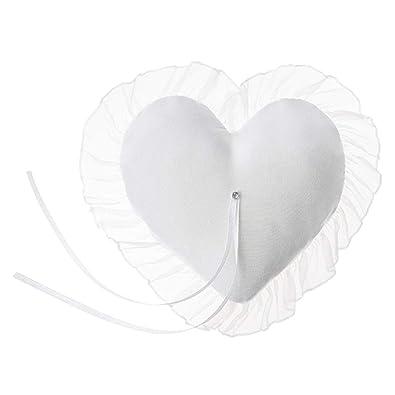 Haus der Herzen Cojín para alianzas, Color Blanco, para ...
