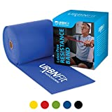 Professional Resistance Bands - 25 Yards (75ft) Latex-Free Elastic Exercise Fitness Band Roll - No Scent, No Powder - Perfect for Physical Therapy and Rehab, Home Workout, Yoga, Pilates