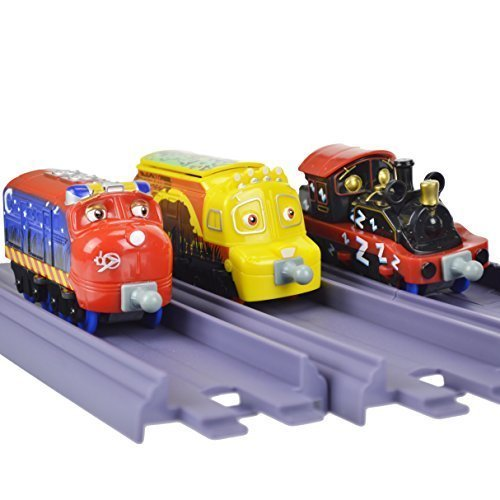 (Chuggington Stacktrack Duo Value Pack Die Cast Toy Set Includes Track Pack and Safari Park Patrol 3 pack)