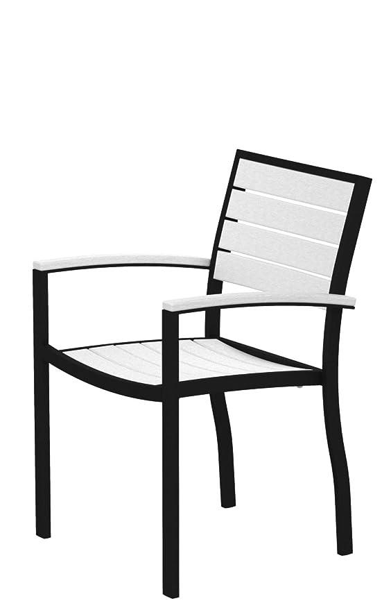 Amazon.com: Euro Brazo Silla de salón acabado: plata & negro ...