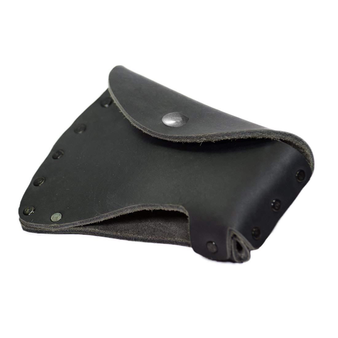 Hide & Drink, Durable Leather Hatchet Head Sheath/Axe Case/Blade Cover/Lumberjack Essentials, Handmade :: Charcoal Black by Hide & Drink