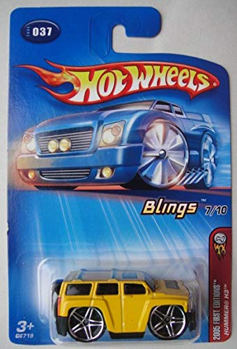 Hot Wheels 2005 First Editions, BLINGS 7/10, Yellow Hummer H3 #37 ()