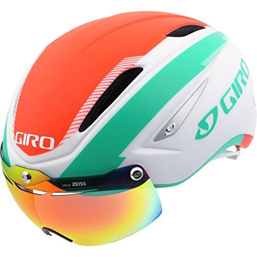 Giro Air Attack Shield Helmet Matte White / Turquoise / Vermillion M