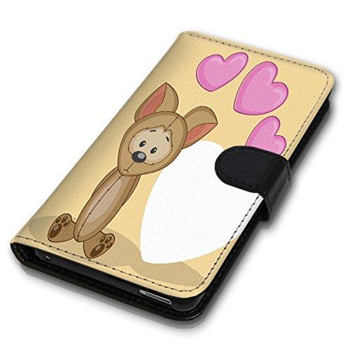 Wallet Book Style Flip Handy Tasche Case Schutz Hülle Schale Motiv Etui für Apple iPhone 4 / 4S - Design Flip MVD25