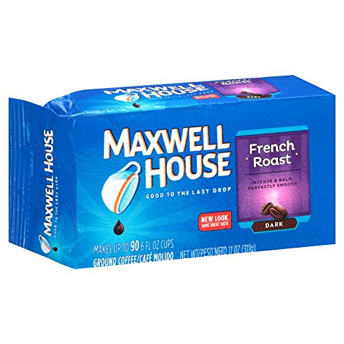 Maxwell House French Blend Ground Coffee, Bold Roast, 11 Ounce Vacuum Bag (Pack of - Maxwell French House Roast Coffee