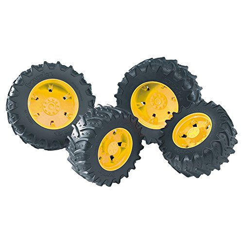 (Bruder Twin Tires with Yellow Rims for 03000 Tractor Series)