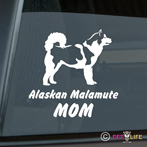 Alaskan Malamute Mom Sticker Vinyl Auto Window Mally