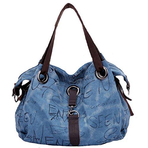 Pairs D - Bolso mochila  para mujer marrón marrón large azul