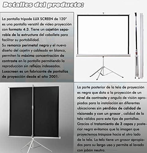 Pantalla de proyección de trípode Luxscreen 120