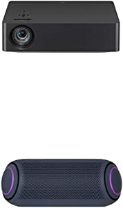LG HU70LAB 4K UHD Smart Home Theater CineBeam Projector with PL7 XBOOM Go Water-Resistant Wireless Bluetooth Party Speaker with Up to 24 Hours Playback – Black
