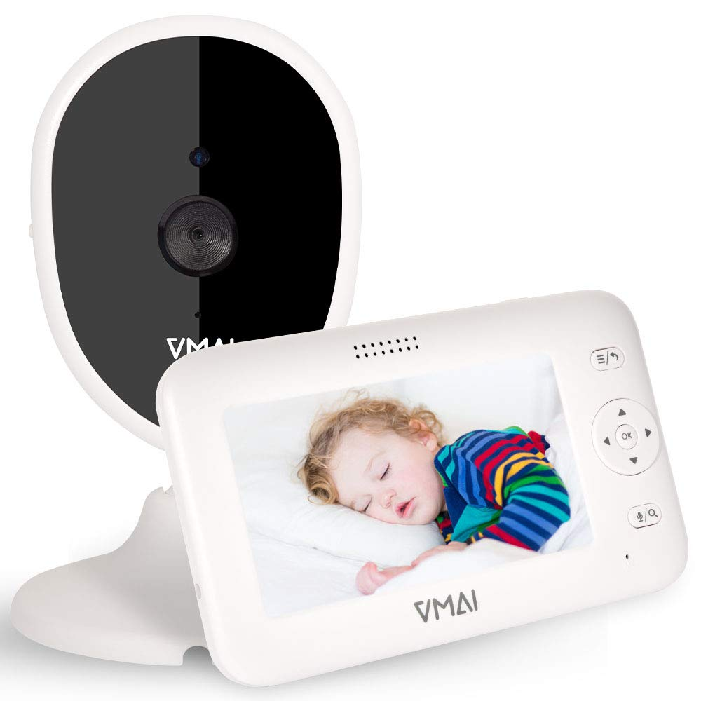 Video Baby Monitor, 4.3'' Baby Monitor with Camera, Infrared Night Vision, Talk Way Audio, VOX Mode, Room Temperature, 5 Lullabies, Zoom, 1100mAh High Capacity, Support up to 4 Cameras,1000ft Range