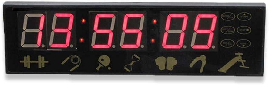 デジタルスポーツタイマー デジタルLEDウォールクロックカウントダウンクロックコンファレンスカウントダウンタイミングリモコン付き秒単位 ベーキングスクールオフィス (色 : ブラック, サイズ : 28X8X2.7CM) ブラック 28X8X2.7CM