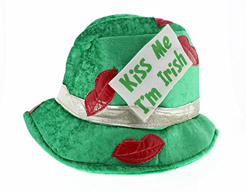 Kiss Outfits (St. Patrick's Day - Kiss Me I'm Irish Fedora Hat - Costume Accessories Party Supplies - Green)