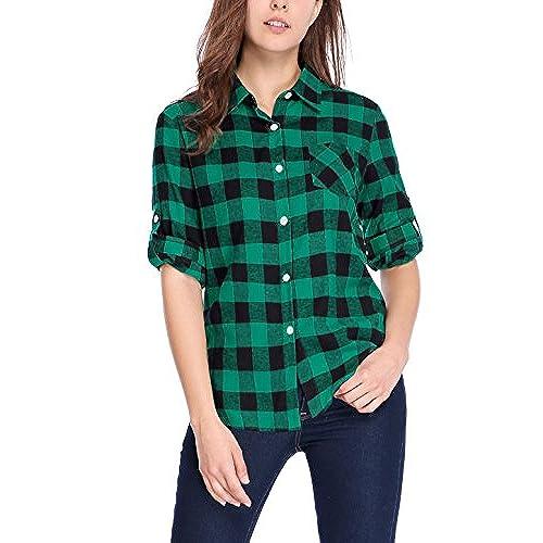Plaid Shirt Women's: Amazon.com