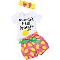 Baby Girl Summer Outfits Infant Girls Sunflower Clothes Set