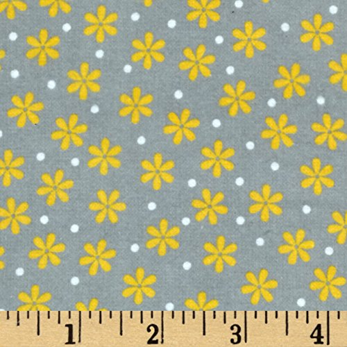 Flannel Daisies - Robert Kaufman 0403025 Cozy Cotton Flannel Daisy Fabric by the Yard, Yellow