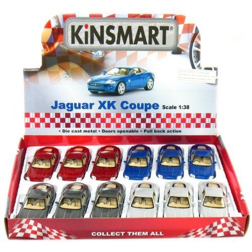 12 pcs in Box: 5 Jaguar XK Coupe 1:38 Scale  by Kinsmart