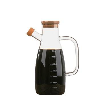 huayoung 700 ml botellas de vidrio botellas de aceite de oliva aceite de cocina estilo sencillo