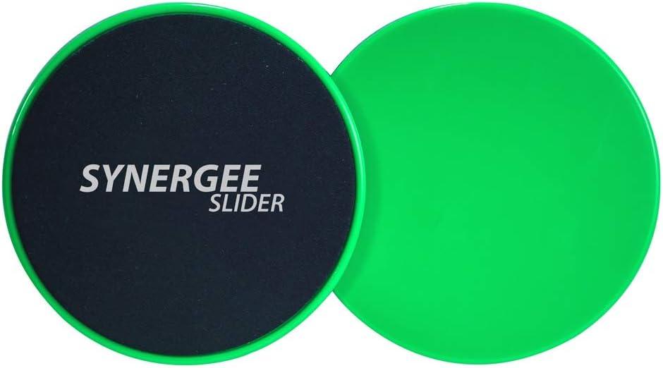 Synergee Core Sliders. Dual Sided Use on Carpet or Hardwood Floors