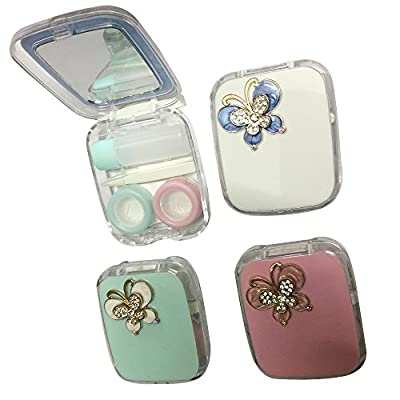 Fashion 7.5x6.3x2cm Contact Lenses Box Case Contact lens Case Butterfly Pattern OFFICE-770
