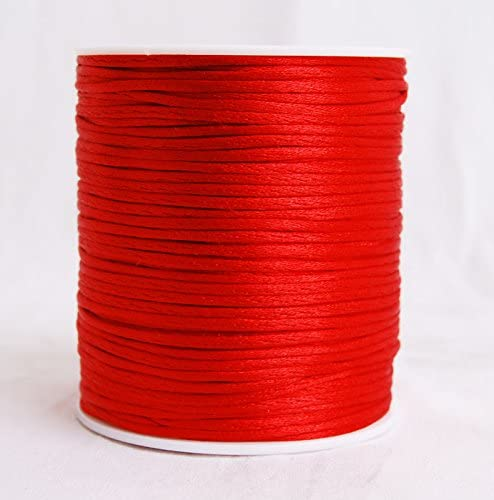 15 mix color 2mm Satin Rattail Nylon Cord Size 2mm 5 yards x 15 colors total 75