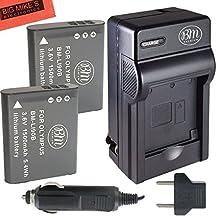 Pack of 2 LI-90B LI-92B Batteries & Charger for Olympus Tough SP-100 IHS, TG-1 iHS, TG-2 iHS, TG-3, SH-50 iHS, XZ-2 iHS Digital Camera + More!!