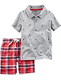 Carter's Boys' 2-Piece Handsome Shirt and Plaid Short Set