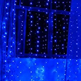 300 blue lights - Lightess 300 LED Christmas String Fairy Outdoor or Indoor Curtain Lights (Blue)