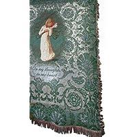 Tiro de tapicería manual de 50 x 60 pulgadas, Willow Tree pensando en tu tiro