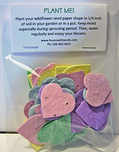 (54 Plantable Baby Shower Heart Seed Shapes in a Bag)