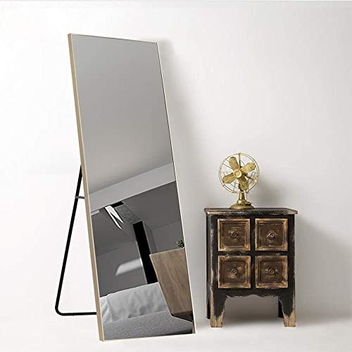 Leafmirror Floor Mirror Full Length Mirror Standing Hanging Mirror Dressing Mirror Wall Mounted Mirror Leaning Against Wall with Stand Bathroom Bedroom Living Room Decor Brown