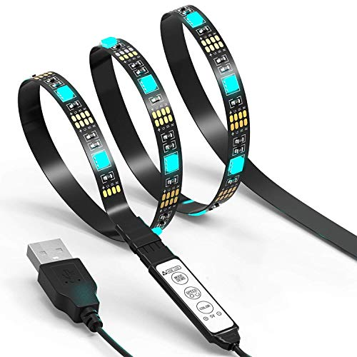 JACKYLED LED Light Strip 6.6Ft 60Leds TV...