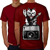 Best  - wellcoda Cat Kitten Rock Star Men Red L Review