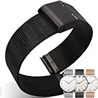 4 Colors for Quick Release Watch Strap, Milanese Magnetic Closure Stainless Steel Watch Band Replacement Strap for 18mm 20mm 22mm 24mm