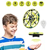 MALLMALL6 Flying Ball Mini Drone RC Toys, Hand Controlled Quadcopter Mini Infrared Induction Aircraft Flying Saucer Toy for Boys Girls Adult as Gift (Yellow)