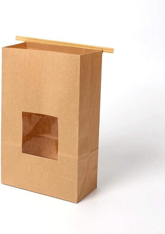 Luerme 50Pcs Bolsas de Papel para el Almuerzo Bolsas de Papel duraderas de Kraft, Bolsas para refrigerios, Bolsas de Pan, Hamburguesas y Bolsas de Papel para sándwich, Papel Kraft 100% Reciclado: Amazon.es: