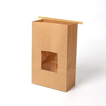 Bolsas de panadería marrones de 50 piezas con Windows/Bolsas ...