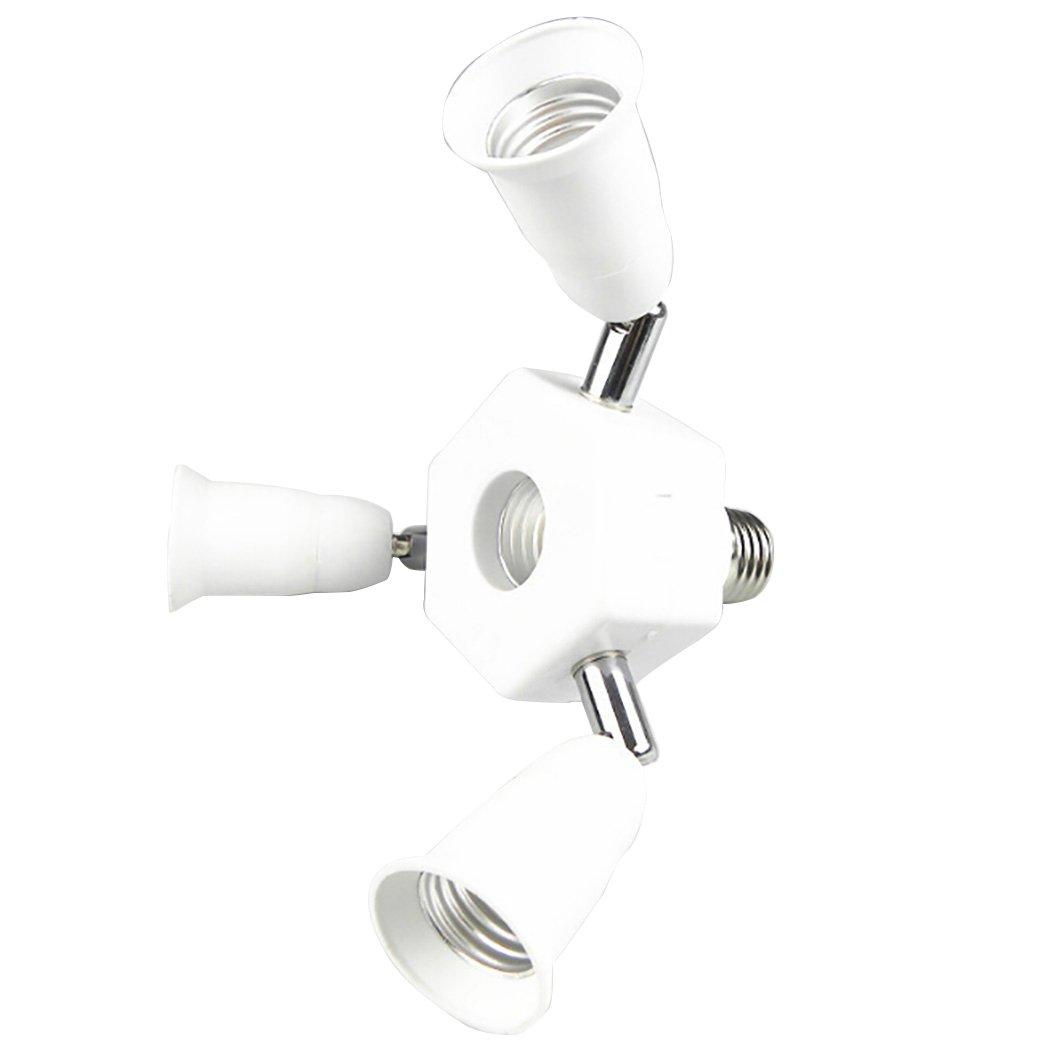 Outgeek Light Socket Splitter 3 in 1 Light Socket Converter 360 Degree Adjustable E27 Bulb Base Adapter by Outgeek (Image #1)