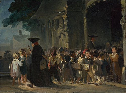 [Oil Painting 'Nicolas Toussaint Charlet Children At A Church Door', 18 x 24 inch / 46 x 62 cm , on High Definition HD canvas prints is for Gifts And Home Theater, Kids Room And Living Room] (Im The Pope Costume)