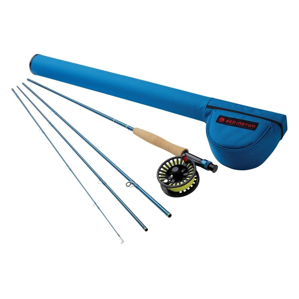 Redington Fly Fishing Fly Fishing Combo Kit 476-2 Outfit with Cross water 4 Wt. 7'6'' Reel (Piece 2)