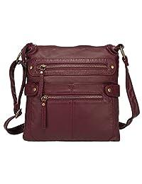 Scarleton Casual Double Zipper Crossbody Bag H1820