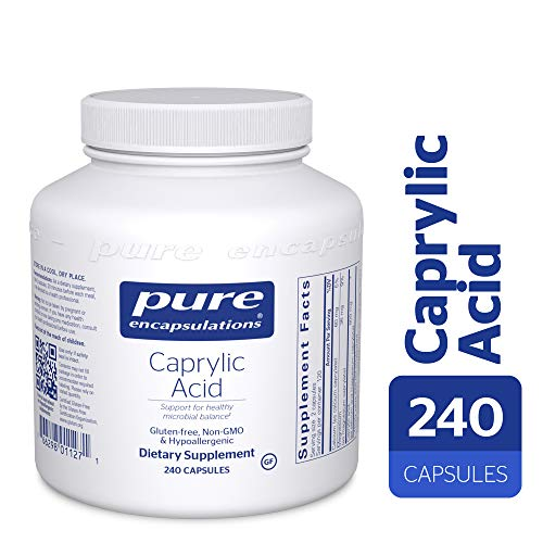 Pure Encapsulations - Caprylic Acid - Gradual Release, Buffered Caprylic Acid, Providing Optimal Support for Healthy Microbial Balance* - 240 Capsules